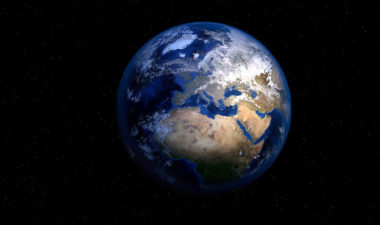 Photo of Earth from space.