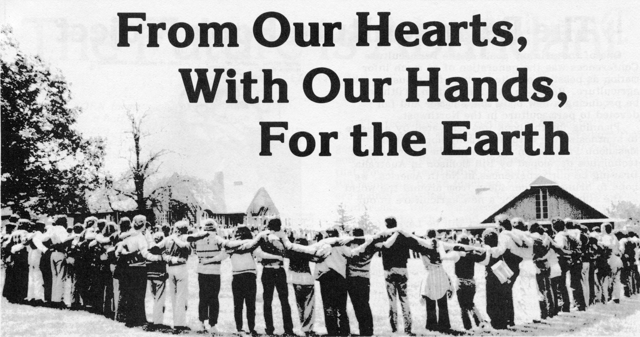 Picture accompanying From Our Hearts, With Our Hands, For The Earth - a report on the permaculture conferences By Mark Musick