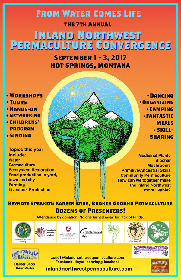 2017 Inland Northwest Permaculture Convergence Poster