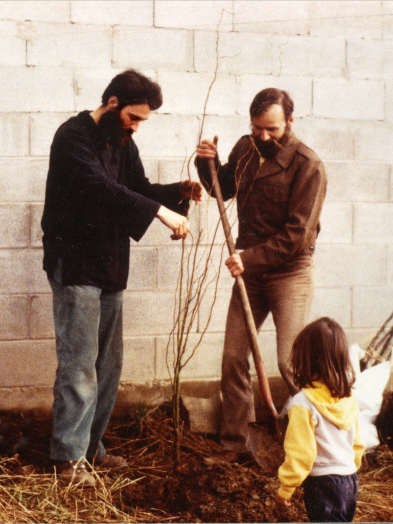 <p>Stephen Bishop & Michael Pilarski Tree Planting - Sagle, ID, 4-4-81</p>