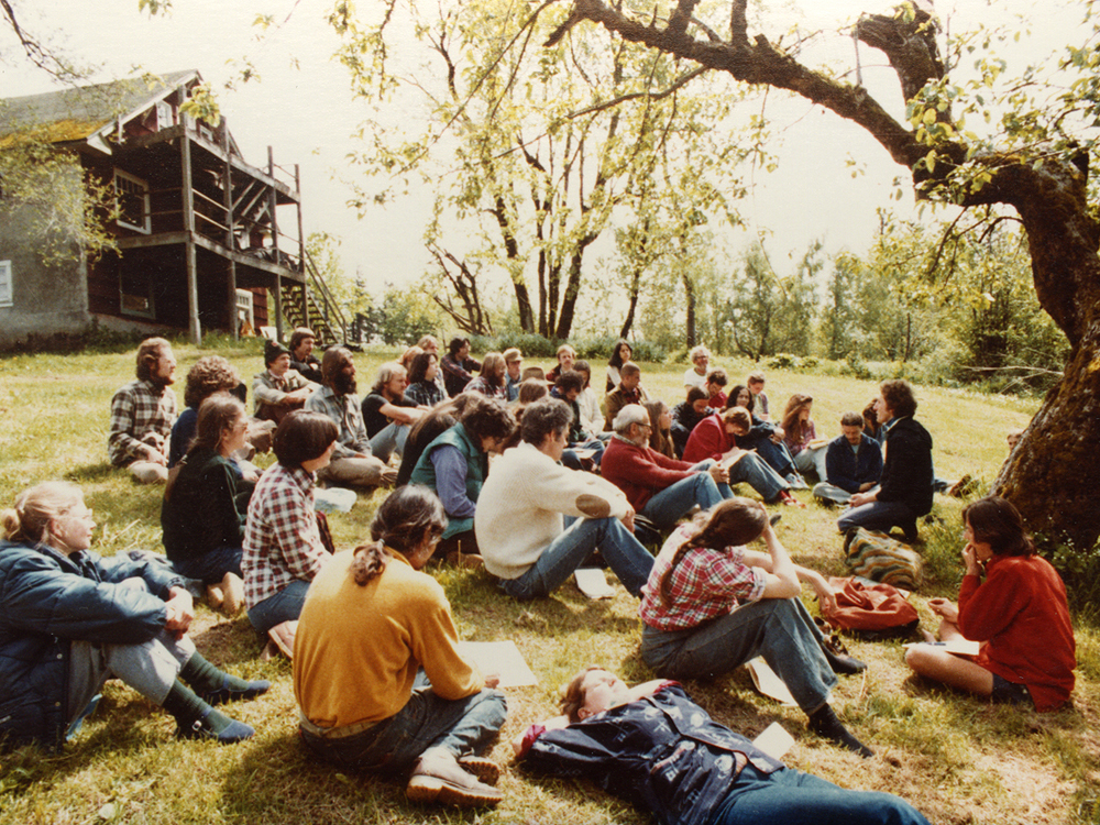 <p>Forest Shomer, Seeds Workshop - 5-9-81</p>