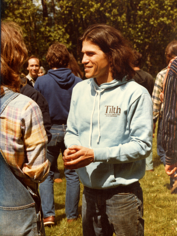 <p>Mark Musick at the Maritime Northwest Permaculture Conference - 5-9-81</p>