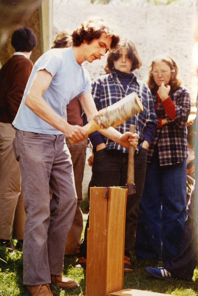 <p>Mike Maki Splitting Cedar Shakes - 5-9-81</p>